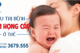 Bệnh viêm họng cấp ở trẻ em